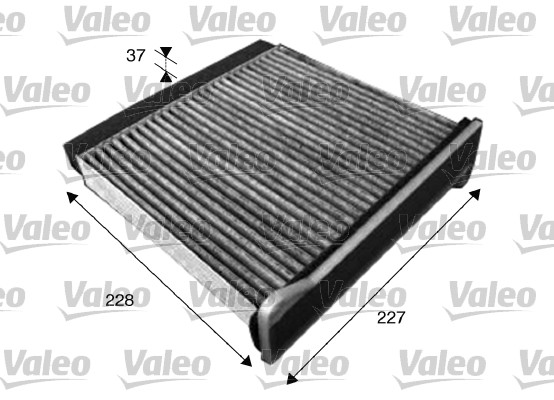 VALEO CABIN FILTER - WITH CHARCOAL - MITSUBISHI EVO 7, EVO 8, EVO 9
