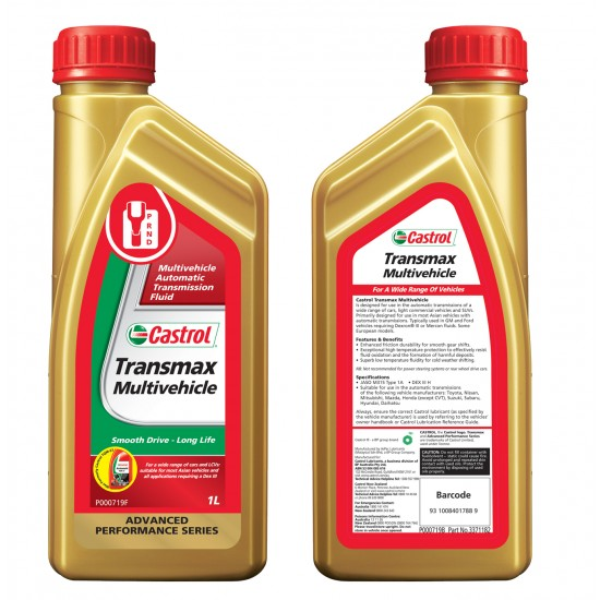 CASTROL Transmax Dex III Multivehicle - ATF/Power Steering/PAS - 1 Litre