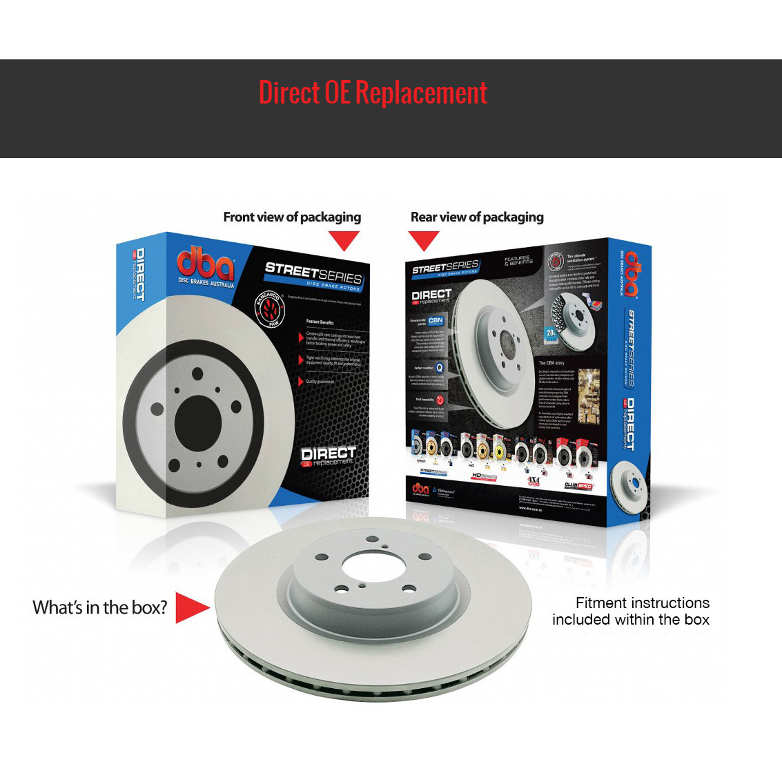MITSUBISHI EVO 7,8,9 - DBA 4000 HD Series - PLAIN DISCS - GROUP N - REAR ΔΙΣΚΟΠΛΑΚΕΣ Pair - 300x57x22.00mm