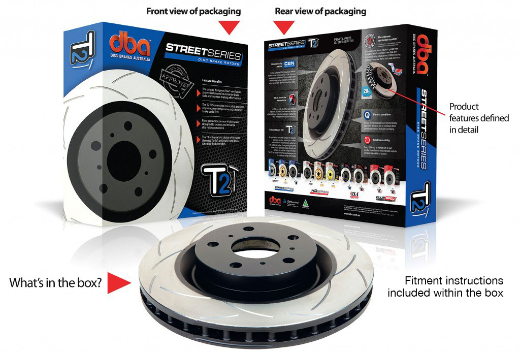 DBA Brake Discs FRONT - T2 Street Series - 312mm