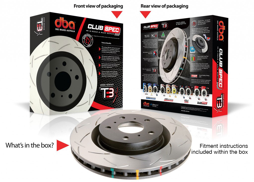 DBA Brake Discs FRONT - T3 Slotted - 312mm