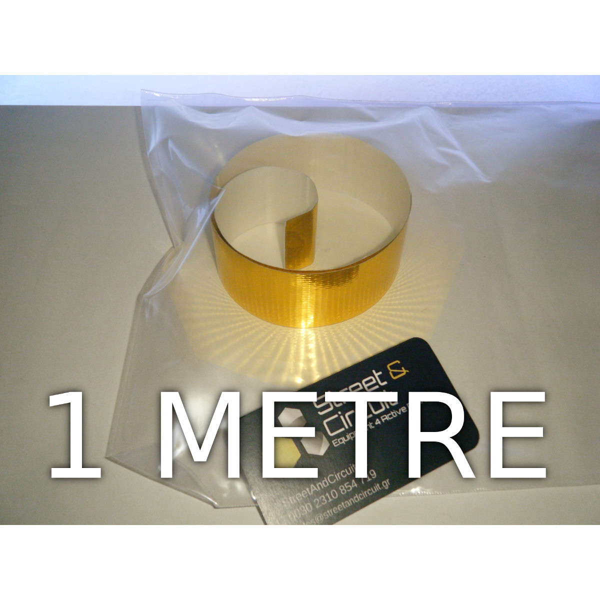 DEI Reflect-A-GOLD Tape 3.8cm x 1 metre - 450C MAX - Reflects Heat From Electrics/Pipes/Hoses/Battery - *BULK* Packaging