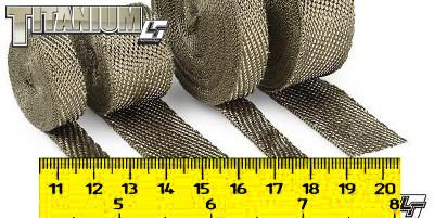 DEI Exhaust Wrap *Titanium 980Celcius - PRICE PER METRE (5cm Wide Wrap)