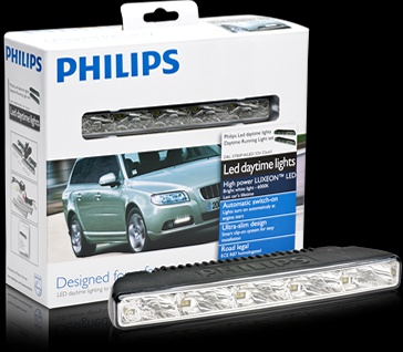 Philips LED DRL Daylight 5 Φώτα ΣΕΤ - High Intensity LUXEON LED - 12v, 4000K - ECE Compliant - 5 LEDs Each Side