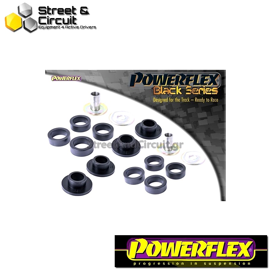| ΑΡΙΘΜΟΣ ΣΧΕΔΙΟΥ 2 | - Powerflex BLACK SERIES *ΣΕΤ* Σινεμπλόκ - 147 (00-10), 156 (97-07), GT (03-10) - Front Lower Wishbone Rear Bush Code: PFF1-812BLK