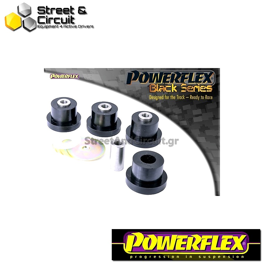 | ΑΡΙΘΜΟΣ ΣΧΕΔΙΟΥ 5 | - Powerflex BLACK SERIES *ΣΕΤ* Σινεμπλόκ - 147 (00-10), 156 (97-07), GT (03-10) - Front Upper Arm Bush Code: PFF1-815BLK