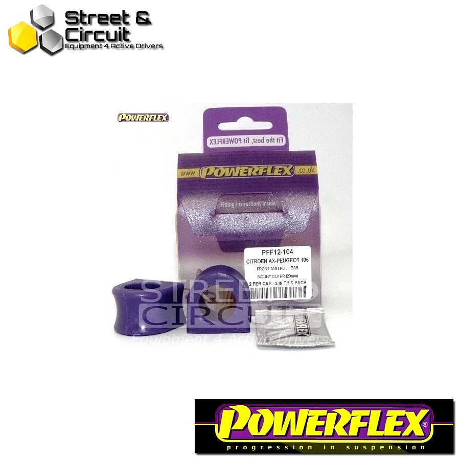 | ΑΡΙΘΜΟΣ ΣΧΕΔΙΟΥ 4 | - Powerflex ROAD *ΣΕΤ* Σινεμπλόκ - 106 & 106 GTi/Rallye - Front Anti Roll Bar Mount (Outer) Code: PFF12-104