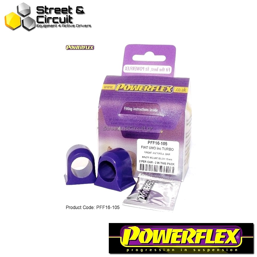 | ΑΡΙΘΜΟΣ ΣΧΕΔΙΟΥ 3 | - Powerflex ROAD *ΣΕΤ* Σινεμπλόκ - Uno inc Turbo - Front Anti Roll Bar Inner Mount Code: PFF16-105