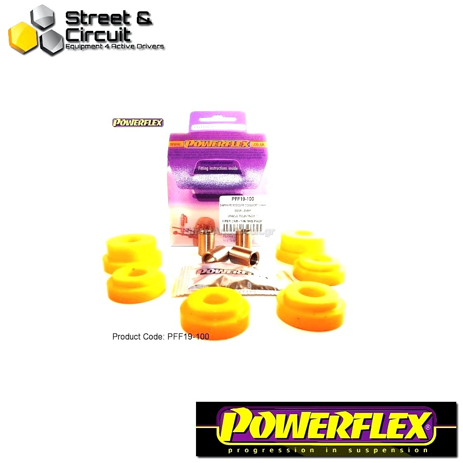 | ΑΡΙΘΜΟΣ ΣΧΕΔΙΟΥ  | - Powerflex ROAD *ΣΕΤ* Σινεμπλόκ - Scorpio All Types (up to 1996) - Gear Lever Cradle Mount Kit Code: PFF19-100