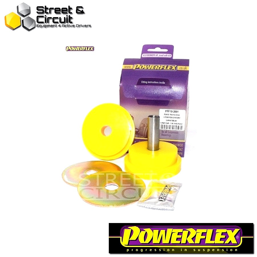 | ΑΡΙΘΜΟΣ ΣΧΕΔΙΟΥ 5 | - Powerflex ROAD *ΣΕΤ* Σινεμπλόκ - Fiesta Mk7 inc ST (2008-) - Lower Engine Mount Large Bush 30mm Bracket Code: PFF19-2001