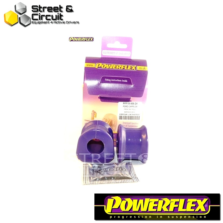 | ΑΡΙΘΜΟΣ ΣΧΕΔΙΟΥ 3 | - Powerflex ROAD *ΣΕΤ* Σινεμπλόκ - Capri - Front Anti Roll Bar Mount 24mm Code: PFF19-406-24