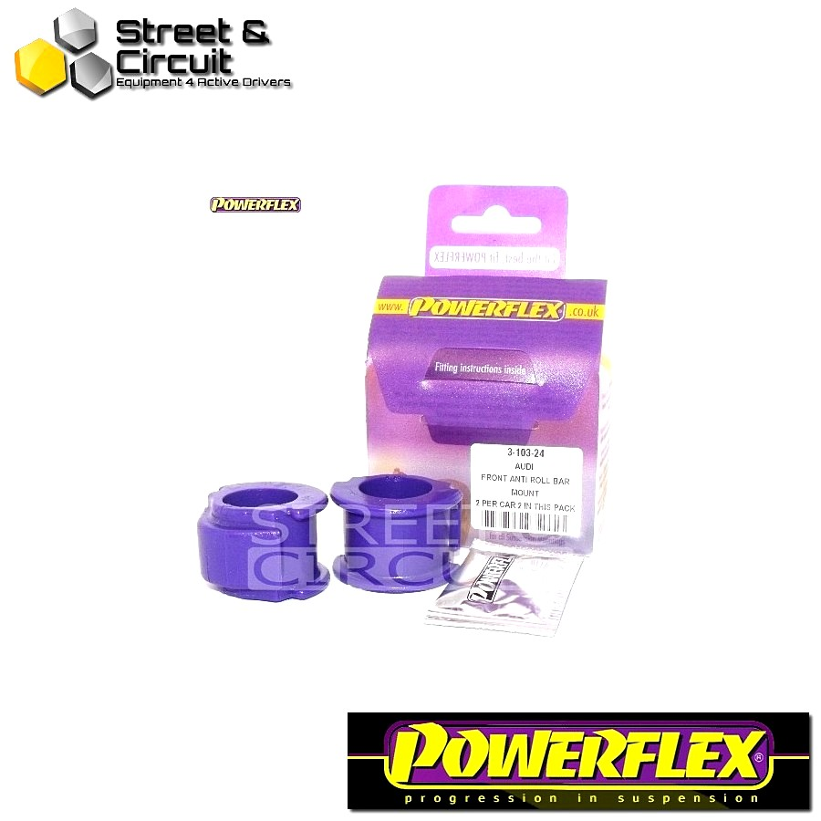 | ΑΡΙΘΜΟΣ ΣΧΕΔΙΟΥ 2 | - Powerflex ROAD *ΣΕΤ* Σινεμπλόκ - 80 - 90 Avant Quattro (1992-1996), S2 Saloon, Sedan and Avant B4, RS2 B4 (1994-1996) - Front Anti Roll Bar Mount 24mm Code: PFF3-103-24