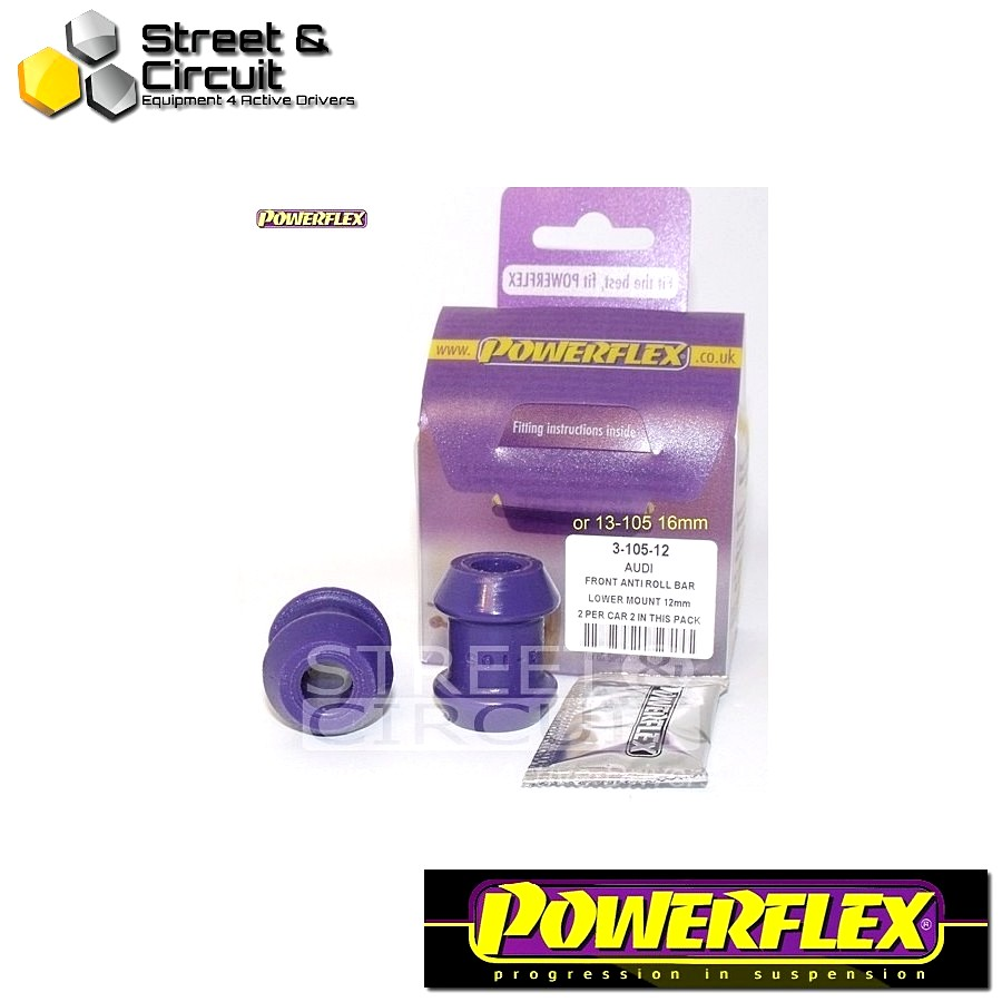 | ΑΡΙΘΜΟΣ ΣΧΕΔΙΟΥ 3 | - Powerflex ROAD *ΣΕΤ* Σινεμπλόκ - Cabriolet (1992 - 2000) - Front Outer Roll Bar Mount Lower 16mm Code: PFF3-105