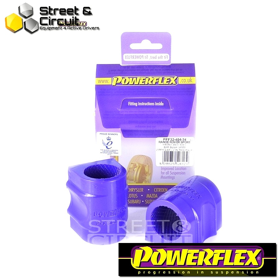 | ΑΡΙΘΜΟΣ ΣΧΕΔΙΟΥ 3 | - Powerflex ROAD *ΣΕΤ* Σινεμπλόκ - Range Rover Sport (2005 - 2013) - Front Anti Roll Bar Bush 34mm Code: PFF32-404-34