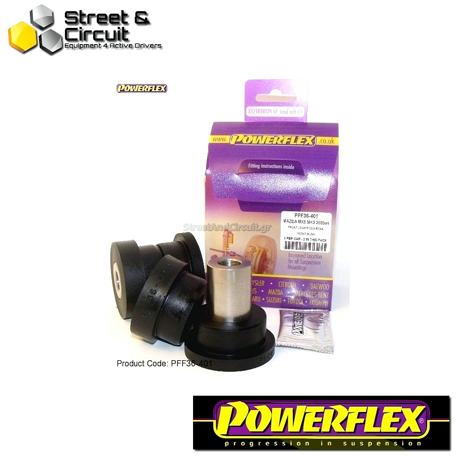 | ΑΡΙΘΜΟΣ ΣΧΕΔΙΟΥ 1 | - Powerflex ROAD *ΣΕΤ* Σινεμπλόκ - RX-8 - Front Lower Wishbone Front Bush Code: PFF36-401