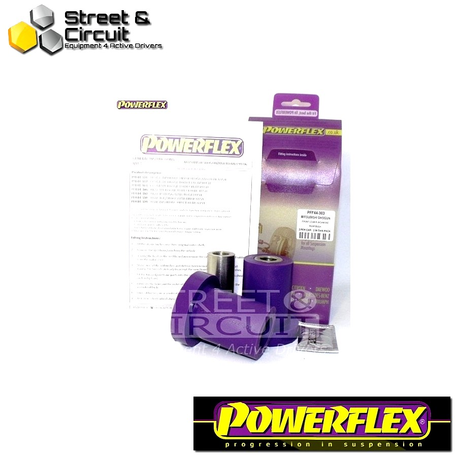 | ΑΡΙΘΜΟΣ ΣΧΕΔΙΟΥ 3 | - Powerflex ROAD *ΣΕΤ* Σινεμπλόκ - Shogun 2000-2006 (V7* Models) - Front Lower Wishbone Rear Bush Code: PFF44-303