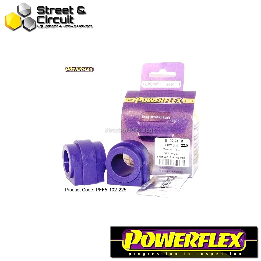 | ΑΡΙΘΜΟΣ ΣΧΕΔΙΟΥ 2 | - Powerflex ROAD *ΣΕΤ* Σινεμπλόκ - Mini Generation 2 - Front Anti Roll Bar Bush 22.5mm Code: PFF5-102-225
