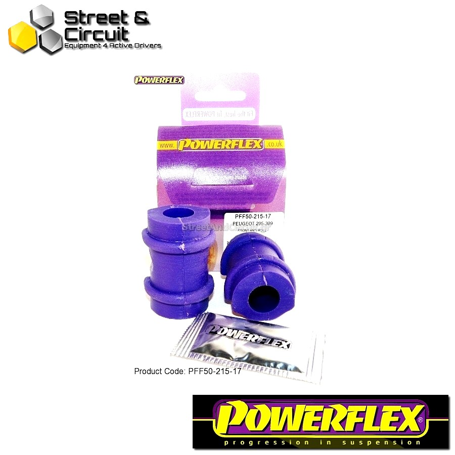 | ΑΡΙΘΜΟΣ ΣΧΕΔΙΟΥ 3 | - Powerflex ROAD *ΣΕΤ* Σινεμπλόκ - 205 Gti & 309 Gti - Front Anti Roll Bar Mount 17mm Code: PFF50-215-17
