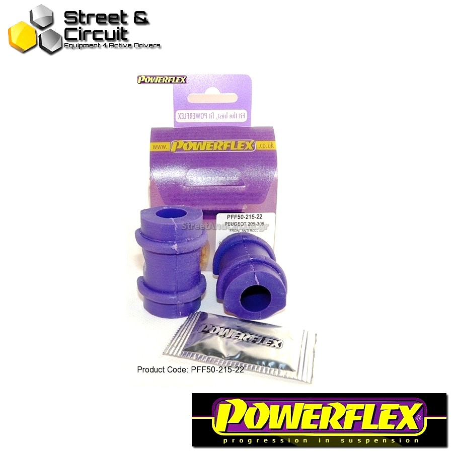 | ΑΡΙΘΜΟΣ ΣΧΕΔΙΟΥ 3 | - Powerflex ROAD *ΣΕΤ* Σινεμπλόκ - 205 Gti & 309 Gti - Front Anti Roll Bar Mount 22mm Code: PFF50-215-22