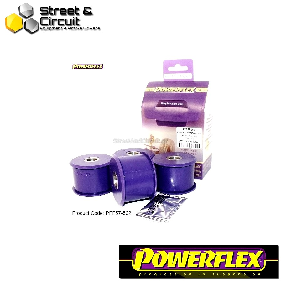 | ΑΡΙΘΜΟΣ ΣΧΕΔΙΟΥ 5 | - Powerflex ROAD *ΣΕΤ* Σινεμπλόκ - 997 (2005-2012) - Rear Track Control Arm Outer Bush Code: PFF57-502