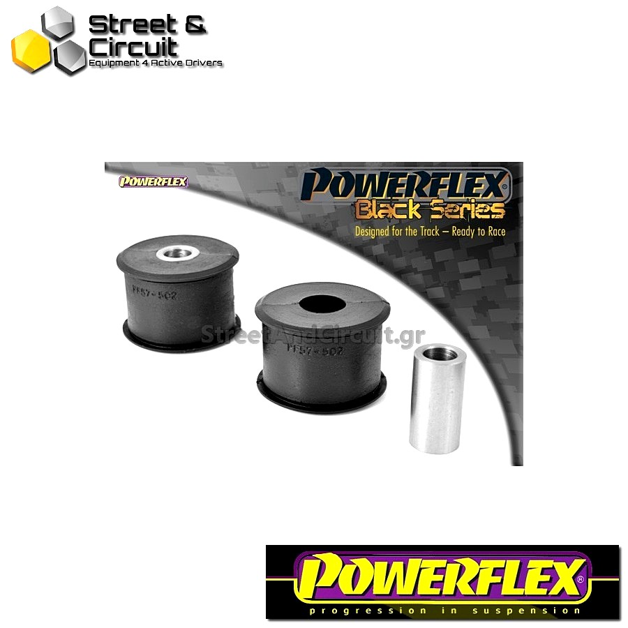| ΑΡΙΘΜΟΣ ΣΧΕΔΙΟΥ 5 | - Powerflex BLACK SERIES *ΣΕΤ* Σινεμπλόκ - 997 (2005-2012) - Rear Track Control Arm Outer Bush Code: PFF57-502BLK