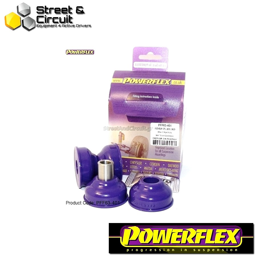 | ΑΡΙΘΜΟΣ ΣΧΕΔΙΟΥ 1 | - Powerflex ROAD *ΣΕΤ* Σινεμπλόκ - 200 Series (Old Shape) 400 Series (Old Shape) - Brake Reaction Bar Mount Code: PFF63-401