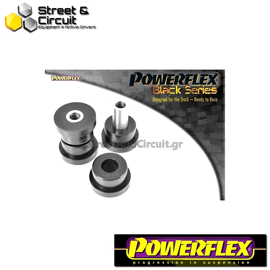 | ΑΡΙΘΜΟΣ ΣΧΕΔΙΟΥ 2 | - Powerflex BLACK SERIES *ΣΕΤ* Σινεμπλόκ - 200 Series (Old Shape) 400 Series (Old Shape) - Front Inner Track Control Arm Bush Code: PFF63-402BLK