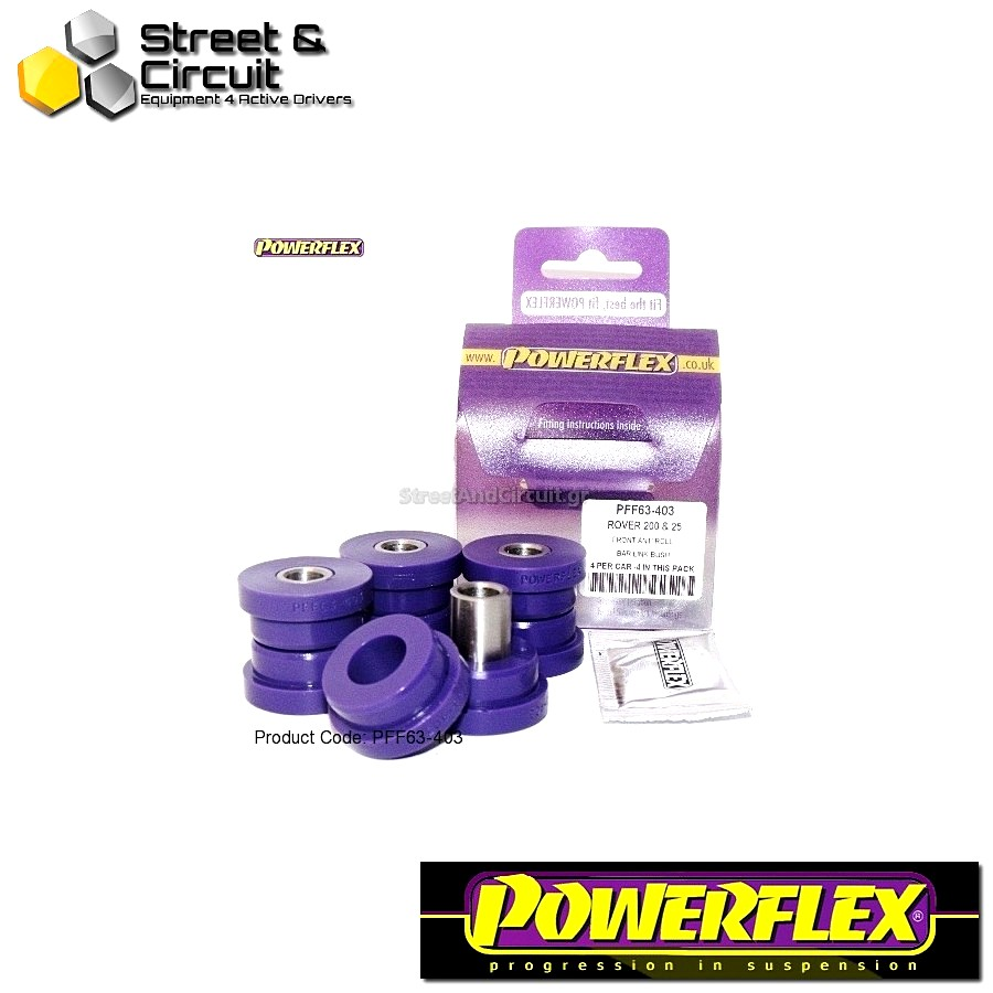 | ΑΡΙΘΜΟΣ ΣΧΕΔΙΟΥ 3 | - Powerflex ROAD *ΣΕΤ* Σινεμπλόκ - 200 Series (Old Shape) 400 Series (Old Shape) - Front Roll Bar Links Code: PFF63-403