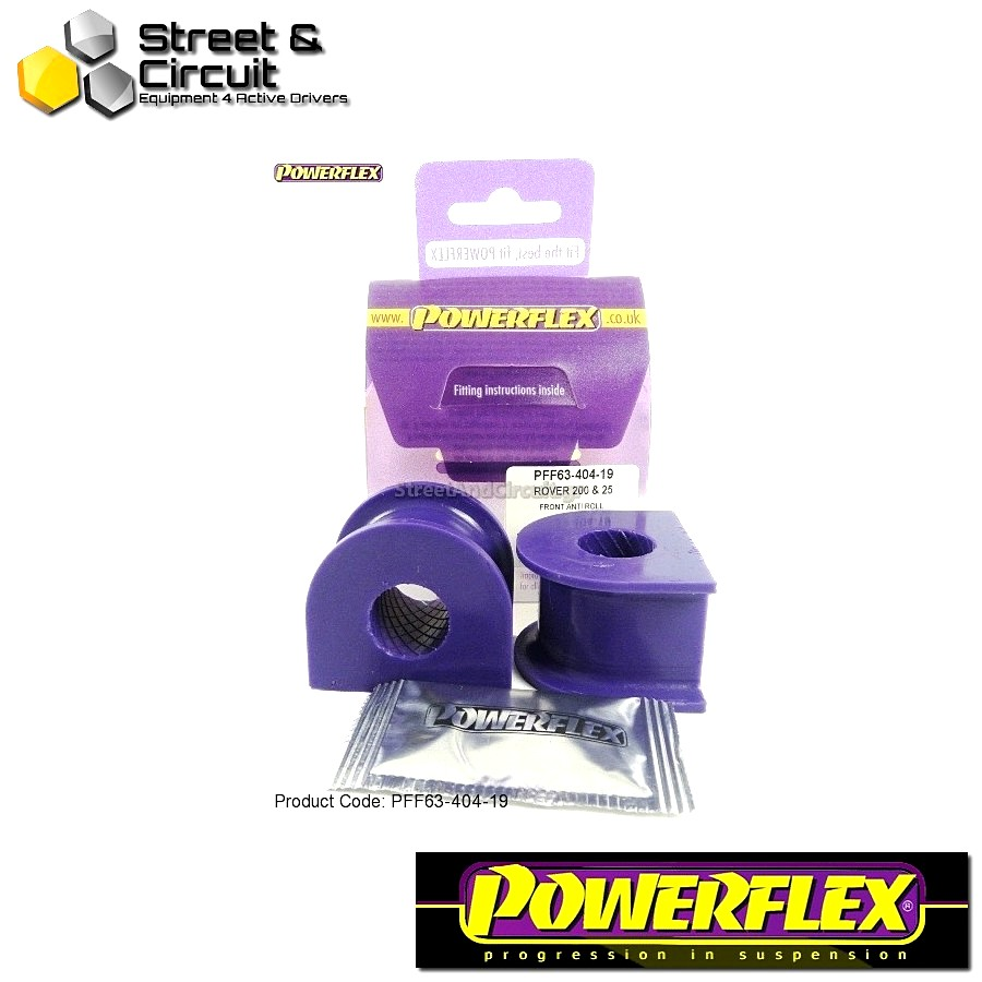 | ΑΡΙΘΜΟΣ ΣΧΕΔΙΟΥ 4 | - Powerflex ROAD *ΣΕΤ* Σινεμπλόκ - 200 Series (Old Shape) 400 Series (Old Shape) - Front Anti Roll Bar Mounts 19mm Code: PFF63-404-19