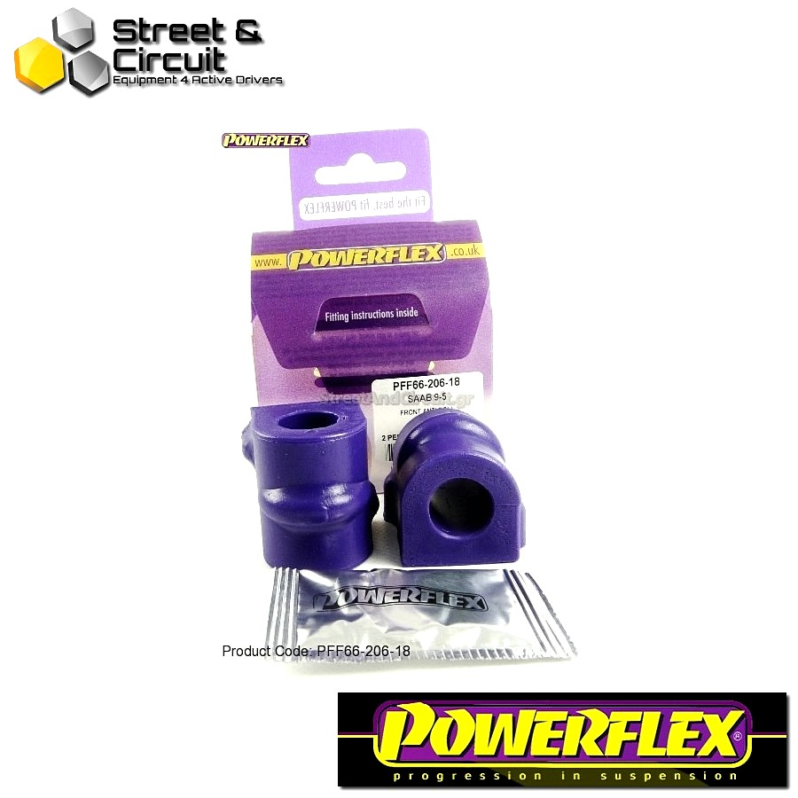 | ΑΡΙΘΜΟΣ ΣΧΕΔΙΟΥ 3 | - Powerflex ROAD *ΣΕΤ* Σινεμπλόκ - 9-5 (1998-2010) YS3E - Front Anti Roll Bar Mounting Bush 18mm Code: PFF66-206-18