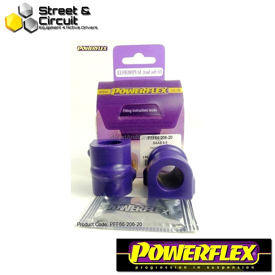 | ΑΡΙΘΜΟΣ ΣΧΕΔΙΟΥ 3 | - Powerflex ROAD *ΣΕΤ* Σινεμπλόκ - 9-5 (1998-2010) YS3E - Front Anti Roll Bar Mounting Bush 20mm Code: PFF66-206-20