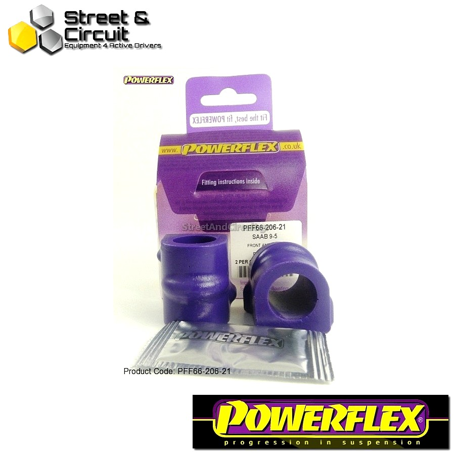 | ΑΡΙΘΜΟΣ ΣΧΕΔΙΟΥ 3 | - Powerflex ROAD *ΣΕΤ* Σινεμπλόκ - 9-5 (1998-2010) YS3E - Front Anti Roll Bar Mounting Bush 21mm Code: PFF66-206-21