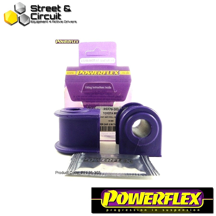 | ΑΡΙΘΜΟΣ ΣΧΕΔΙΟΥ 3 | - Powerflex ROAD *ΣΕΤ* Σινεμπλόκ - MR2 3S-FE/GE SW20 (1989-1999) - Front Anti Roll Bar Bush 18mm Code: PFF76-303