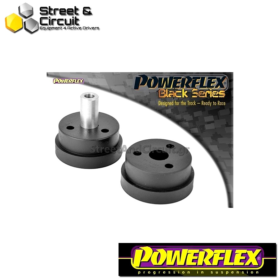 | ΑΡΙΘΜΟΣ ΣΧΕΔΙΟΥ 2 | - Powerflex BLACK SERIES *ΣΕΤ* Σινεμπλόκ - Starlet/Glanza Turbo EP82 & EP91 - Rear Gearbox Mount Bush Code: PFF76-421BLK