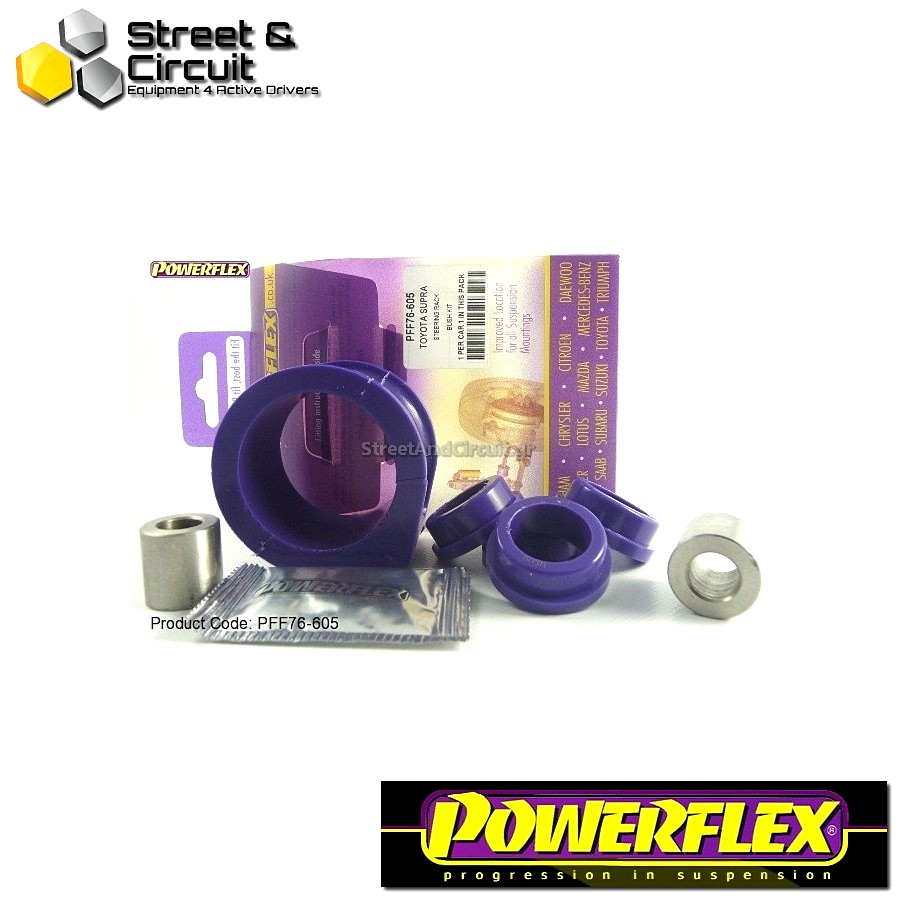 | ΑΡΙΘΜΟΣ ΣΧΕΔΙΟΥ 5 | - Powerflex ROAD *ΣΕΤ* Σινεμπλόκ - Supra 4 JZA80 (1993-2002) - Steering Rack Mount Bush Kit 50mm Code: PFF76-605