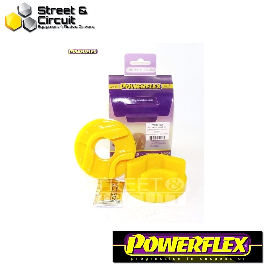| ΑΡΙΘΜΟΣ ΣΧΕΔΙΟΥ 20 | - Powerflex ROAD *ΣΕΤ* Σινεμπλόκ - Croma (2005 - 2011) - Front & Rear Lower Engine Mount Insert Code: PFF80-1220