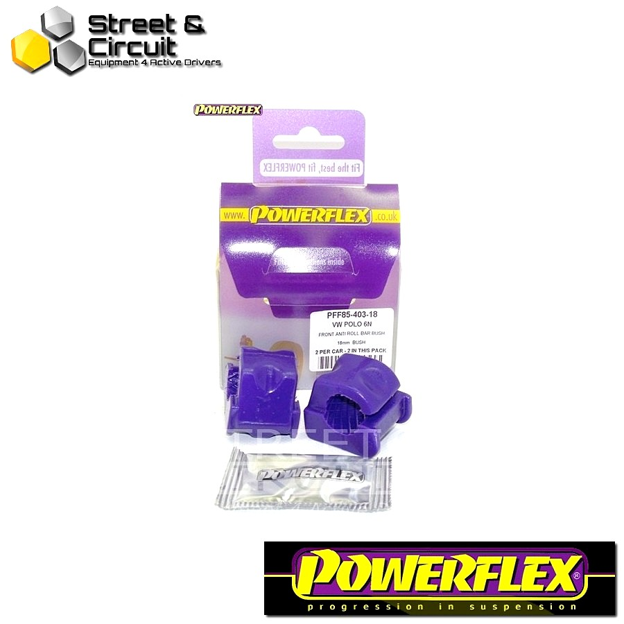 | ΑΡΙΘΜΟΣ ΣΧΕΔΙΟΥ 3 | - Powerflex ROAD *ΣΕΤ* Σινεμπλόκ - Arosa (1997 - 2004) - Front Anti Roll Bar Bush 18mm Code: PFF85-403-18
