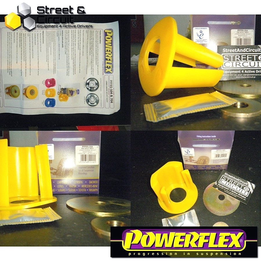 | ΑΡΙΘΜΟΣ ΣΧΕΔΙΟΥ 4 | - Powerflex ROAD *ΣΕΤ* Σινεμπλόκ - Leon Mk2 1P (2005-) - Lower Engine Mount Insert (Large) Code: PFF85-504