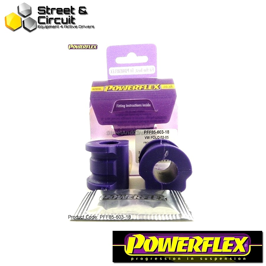 | ΑΡΙΘΜΟΣ ΣΧΕΔΙΟΥ 3 | - Powerflex ROAD *ΣΕΤ* Σινεμπλόκ - Fabia 5J (2008-) - Front Anti Roll Bar Bush 17.5mm Code: PFF85-603-18