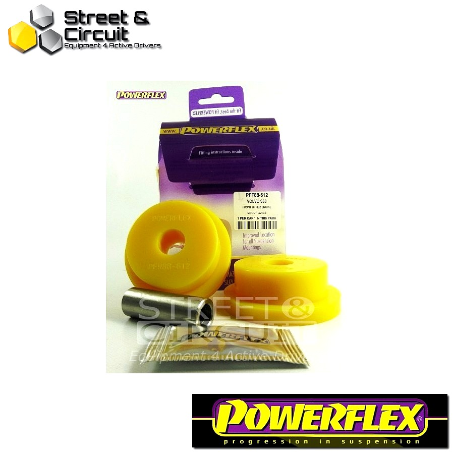 | ΑΡΙΘΜΟΣ ΣΧΕΔΙΟΥ 12 | - Powerflex ROAD *ΣΕΤ* Σινεμπλόκ - S60 (2001-2010), V70-Mk2, S80-Mk1 (2000-on) - Upper Engine Mount Large Round Bush Petrol Code: PFF88-612