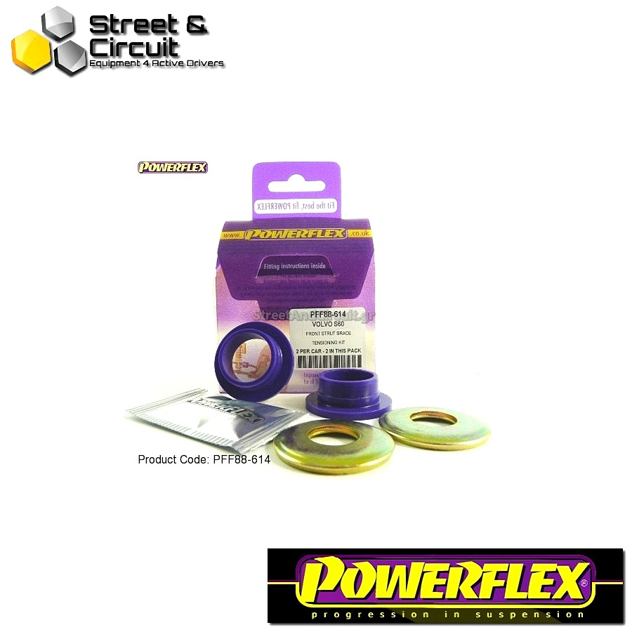 | ΑΡΙΘΜΟΣ ΣΧΕΔΙΟΥ 14 | - Powerflex ROAD *ΣΕΤ* Σινεμπλόκ - S60 (2001-2010), V70-Mk2, S80-Mk1 (2000-on) - Strut Brace Tensioning Kit Code: PFF88-614