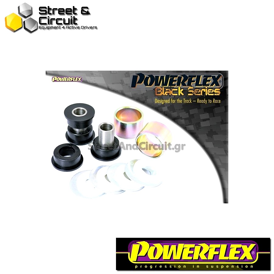 | ΑΡΙΘΜΟΣ ΣΧΕΔΙΟΥ 8 | - Powerflex BLACK SERIES *ΣΕΤ* Σινεμπλόκ - 147 (00-10), 156 (97-07), GT (03-10) - Rear Tie Bar to Hub Bush Code: PFR1-818BLK
