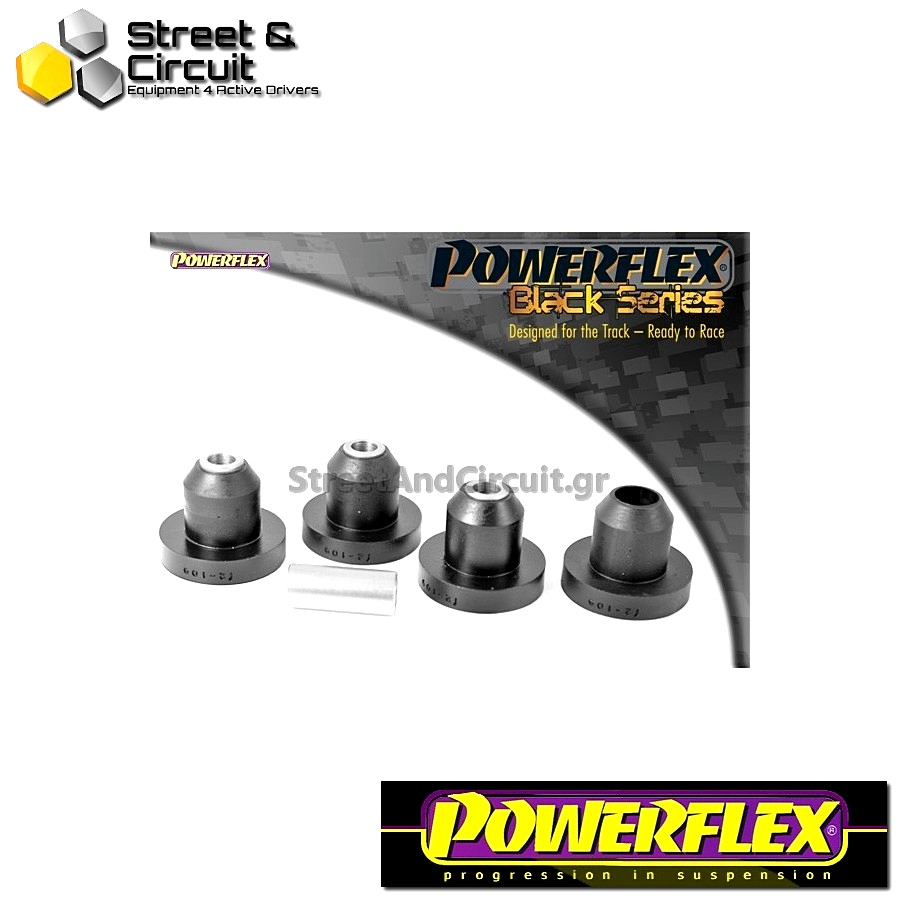 | ΑΡΙΘΜΟΣ ΣΧΕΔΙΟΥ 5 | - Powerflex BLACK SERIES *ΣΕΤ* Σινεμπλόκ - 106 & 106 GTi/Rallye - Rear Beam Mount  Code: PFR12-109BLK
