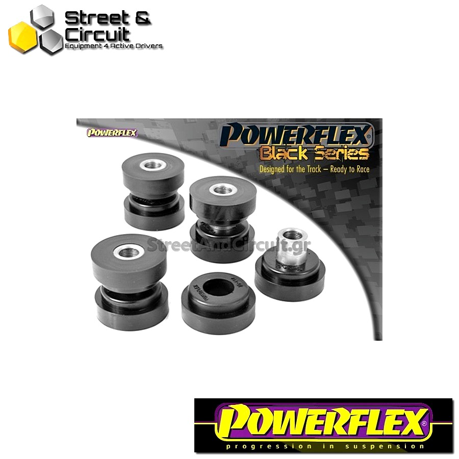 | ΑΡΙΘΜΟΣ ΣΧΕΔΙΟΥ 14 | - Powerflex BLACK SERIES *ΣΕΤ* Σινεμπλόκ - 200 Series (Old Shape) 400 Series (Old Shape) - Rear Toe Link Arm Bush Code: PFR25-114BLK