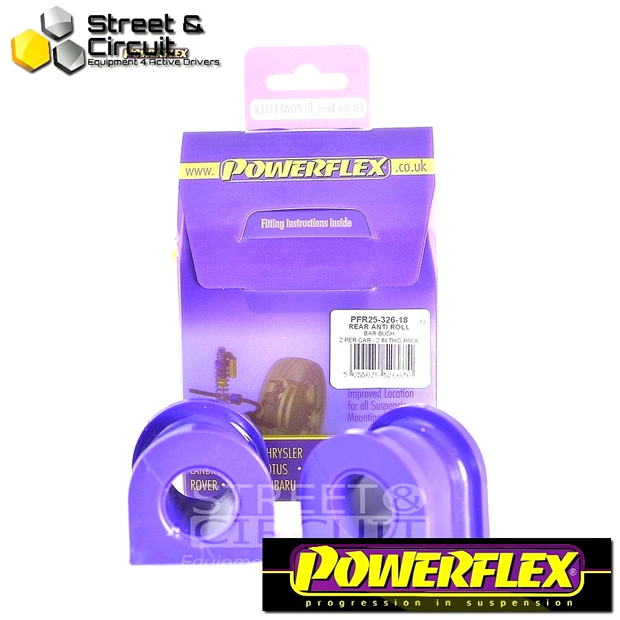 | ΑΡΙΘΜΟΣ ΣΧΕΔΙΟΥ 26 | - Powerflex ROAD *ΣΕΤ* Σινεμπλόκ - Element (2003 - 2011) - Rear Anti Roll Bar Bush 18mm Code: PFR25-326-18