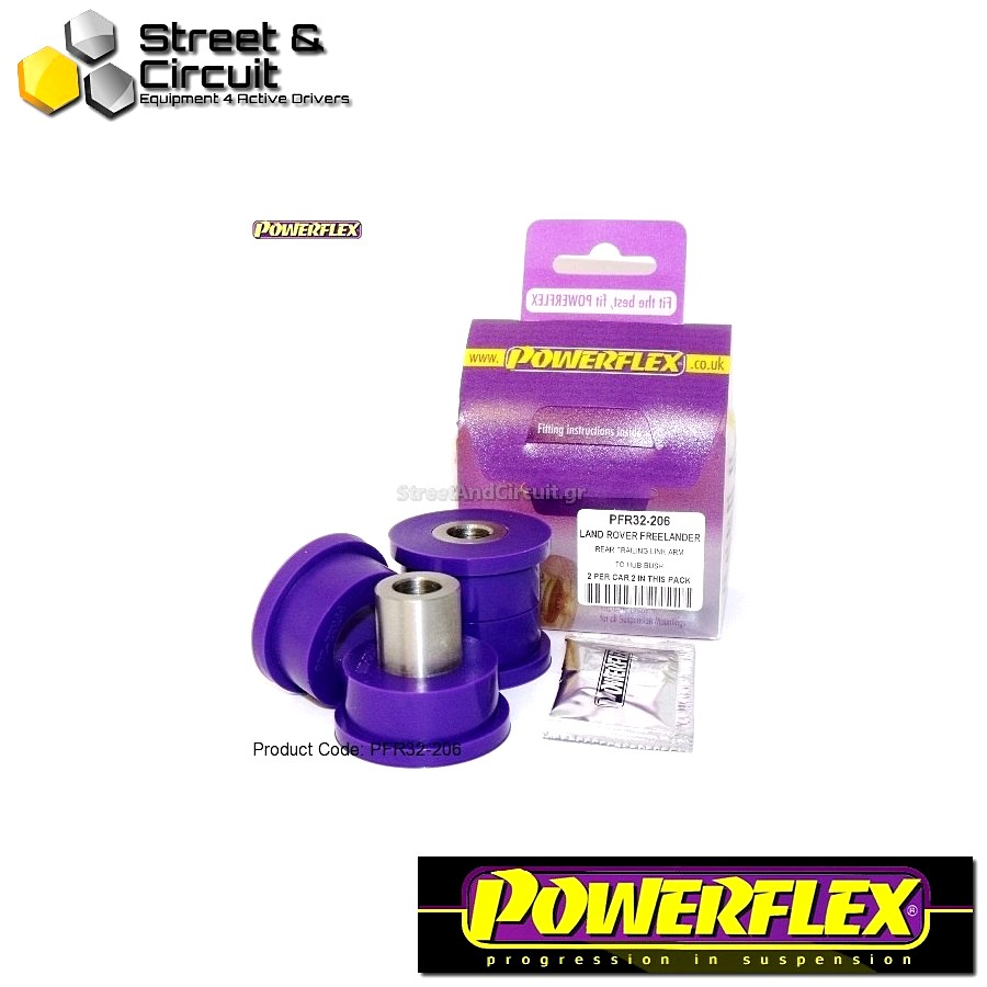 | ΑΡΙΘΜΟΣ ΣΧΕΔΙΟΥ 6 | - Powerflex ROAD *ΣΕΤ* Σινεμπλόκ - Freelander (1997–2006) - Rear Trailing Link Arm To Hub Code: PFR32-206