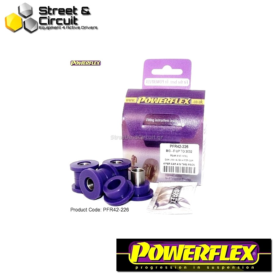 | ΑΡΙΘΜΟΣ ΣΧΕΔΙΟΥ 9 | - Powerflex ROAD *ΣΕΤ* Σινεμπλόκ - MGF (up to 2002) - Rear Anti Roll Bar Link Bush Code: PFR42-226