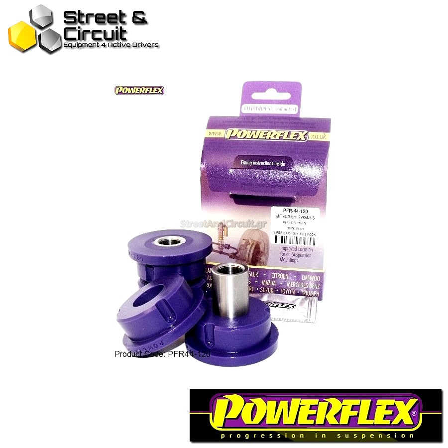 | ΑΡΙΘΜΟΣ ΣΧΕΔΙΟΥ 14 | - Powerflex ROAD *ΣΕΤ* Σινεμπλόκ - Lancer Evolution 8-9 (inc 260) - Rear Diff Mount Front Bush Code: PFR44-120