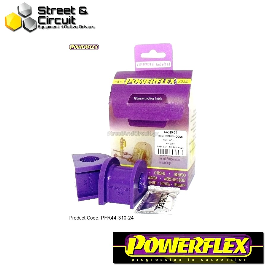 | ΑΡΙΘΜΟΣ ΣΧΕΔΙΟΥ 10 | - Powerflex ROAD *ΣΕΤ* Σινεμπλόκ - Shogun 2000-2006 (V7* Models) - Rear Anti Roll Bar Mounting 24mm Code: PFR44-310-24