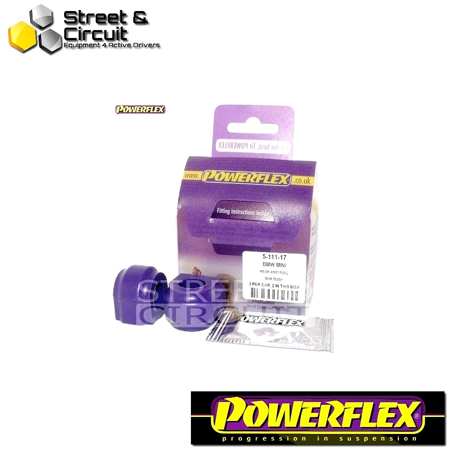 | ΑΡΙΘΜΟΣ ΣΧΕΔΙΟΥ 11 | - Powerflex ROAD *ΣΕΤ* Σινεμπλόκ - Mini Generation 2 - Rear Anti Roll Bar Bush 17mm Code: PFR5-111-17